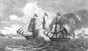 Print Commemorating the Enterprise and Boxer Battle
