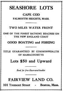 Cape Cod summer home advertisement