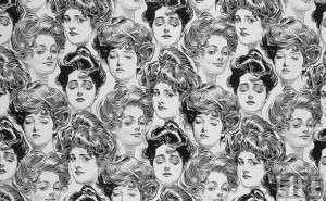 charles dana gibson - gibson girls crowd