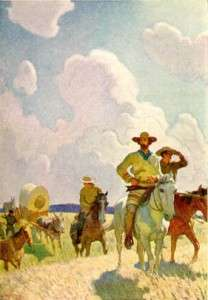 Illustration from The Oregon Trail by N.C. Wyeth