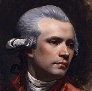 John Singleton Copley, detail from self portrait