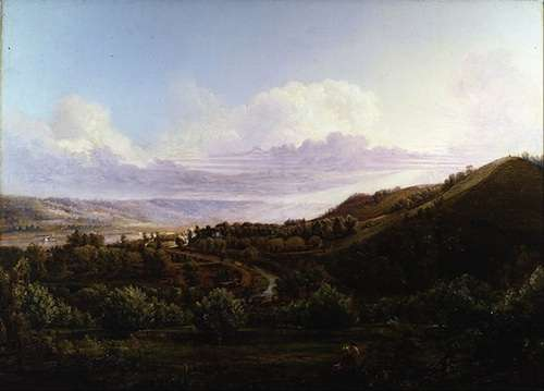 View of Bald Face Creek from the Ohio River Valley by Henry Lovie, 1858