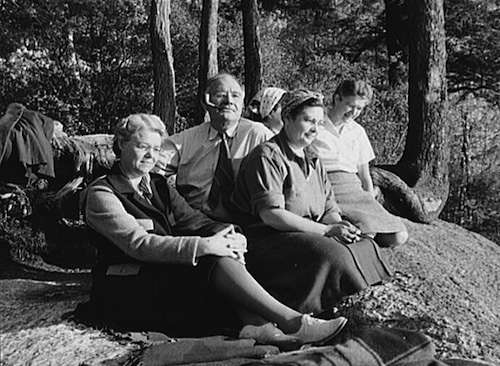 Mohawk Trail picknickers. Photo courtesy Library of Congress.