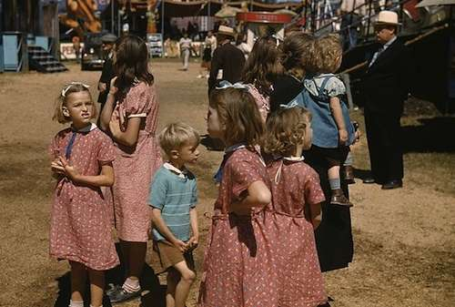A family visits the Vermont State Fair. Photo courtesy Library of Congress.