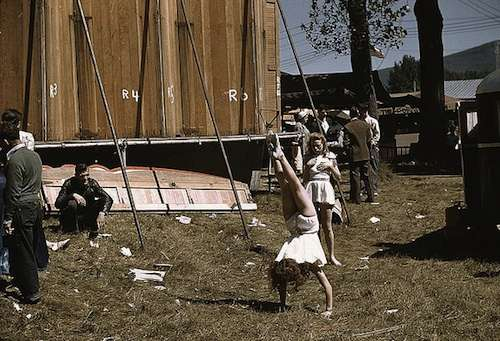 'Backstage' at the Vermont State Fair.Photo courtesy Library of Congress.