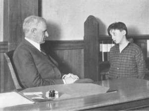 Francis Pickering Cabot in court in 1919