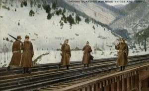 Troops guard the Hoosac Tunnel in World War I