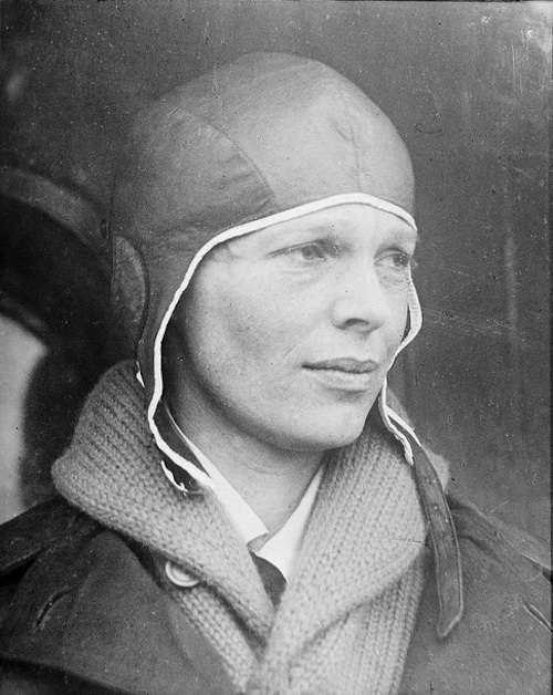 Amelia Earhart. Photo courtesy Boston Public Library, Leslie Jones Collection.