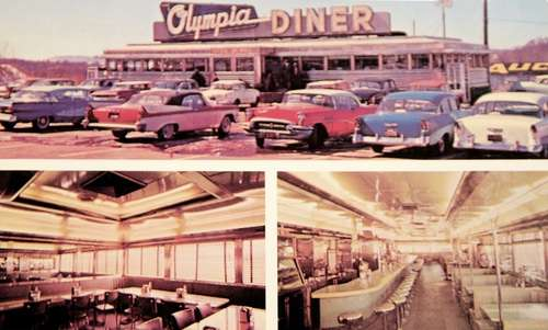 Olympia Diner postcard