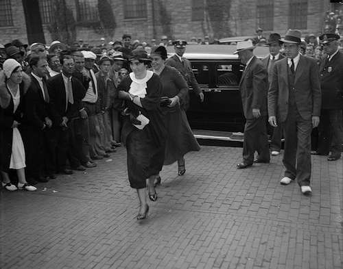 Jessie Costello goes to court. Photo courtesy Boston Public Library, Leslie Jones Collection.