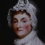 Abigail Adams, detail from painting by Gilbert Stuart