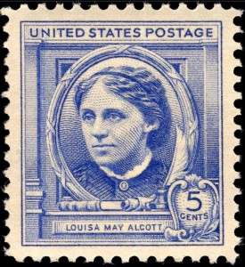 Louisa May Alcott 1940 commemorative stamp