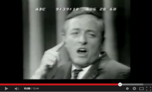 Arguing with Gore Vidal over the 1968 Chicago riots