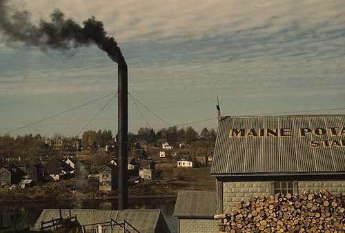 Starch factory along the Aroostook River.