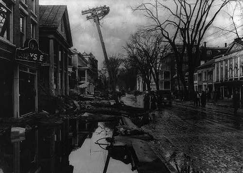 Montpelier after the flood. Photo courtesy Library of Congress.