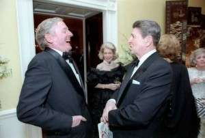 William F. Buckley Jr. with President Reagan