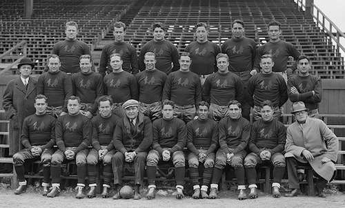 Boston Redskins team photo. Photo courtesty Boston Public Library, Leslie Jones Collection.