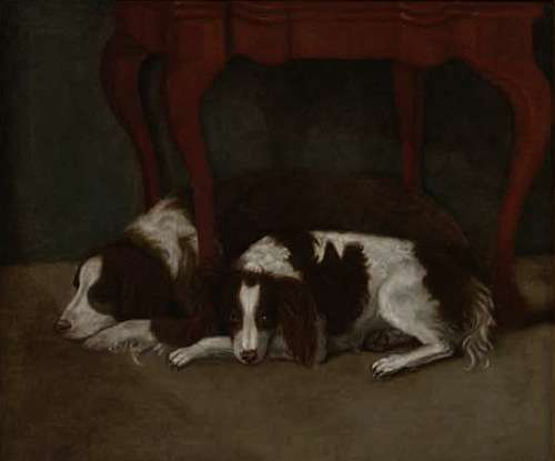 Dr. Hunter's Spaniels, by Gilbert Stuart