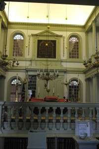Interior of the Touro Synagogue.