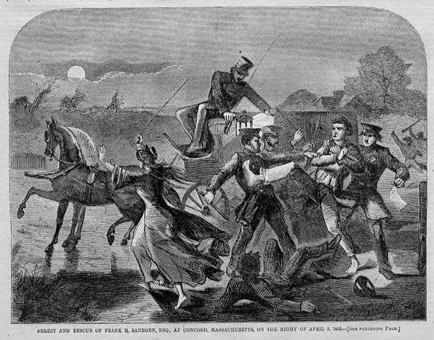 The attempted arrest of Franklin Sanborn