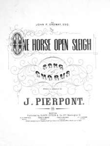 Original Sheet Music to Jingle Bells, written by James Lord Pierpont.