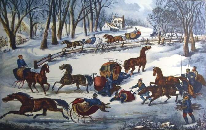 Sleigh racing in Medford, Mass. inspired James Lord Pierpont to write Jingle Bells.
