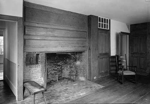 The dining room where the revolutionary war veterans dined. Photo courtesy Library of Congress.