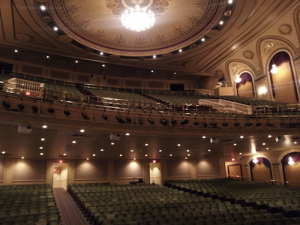 Interior of the Hanover Theatre in Worcester