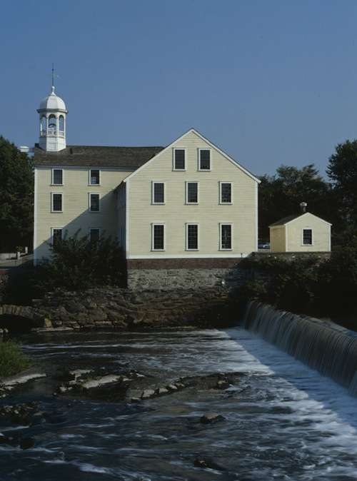 Sam Slater's mill. Photo courtesy of the Library of Congress.