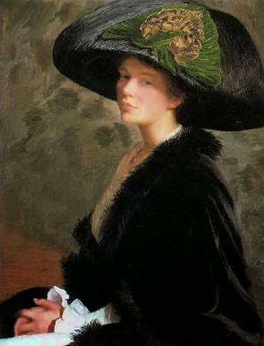 Lilla Cabot Perry, self portrait