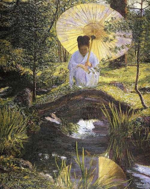 Lilla Cabot Perry, 'In A Japanese Garden'