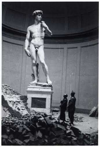 Deane Keller with Michelangelo's David