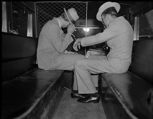Two of the suspects in the King Charles Solomon murder investigation. Photo courtesy Boston Public Library, Leslie Jones Collection.