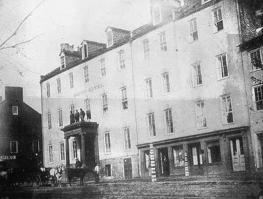 Georgetown's Union Hotel. Photo courtesy Library of Congress.