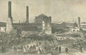The Pemberton Mill, collapsed.