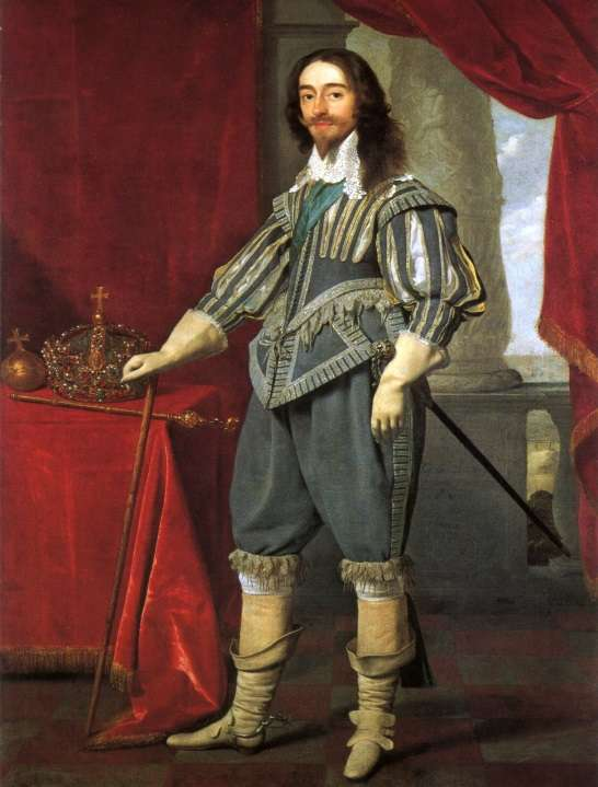King Charles I was a walking list of violations of the Puritan dress code.