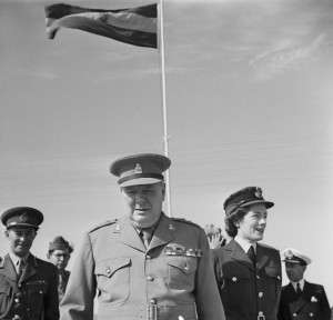 Winston Churchill and Sarah in Cairo, 1943