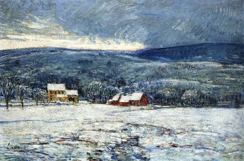 Winter in the Connecticut Hills, by Childe Hassam