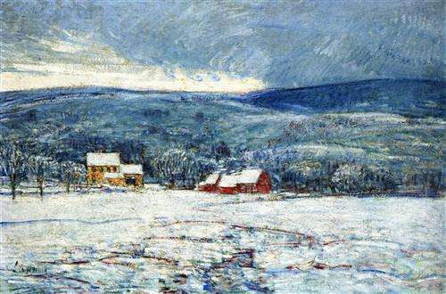 Winter in Connecticut by Childe Hassam