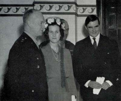 Gen. Dwight Eisenhower, Constance and John Winant, 1940s.