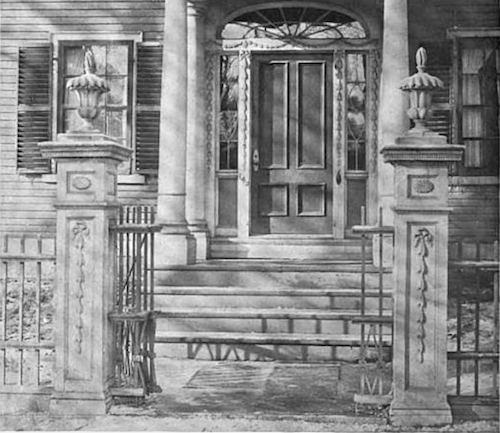 Gateposts of the Cook-Oliver House, finished in 1804.
