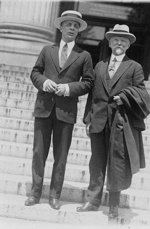 Charles Lathrop Pack (right) and Theodore Roosevelt Jr.