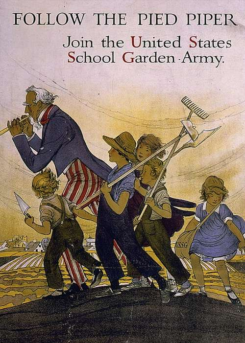 U.S. School Garden Army recruitment poster.