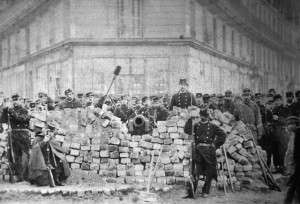 The Communards at the barricades in 1871