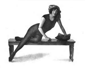 Annette Kellerman in the suit that got her arrested.