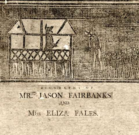 Newspaper broadside depicting the hanging of Jason Fairbanks