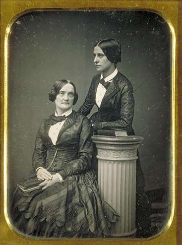 Charlotte Cushman and Matilda Hays.