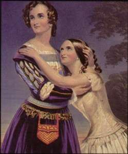 Charlotte and Susan as Romeo and Juliet.