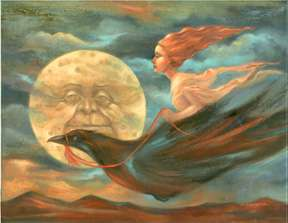 Night Flight goddess by Kahlil Gibran