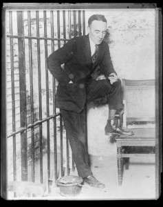 Gerald Chapman in his Wethersfield prison cell. Photo courtesy Boston Public Library, Leslie Jones Collection.